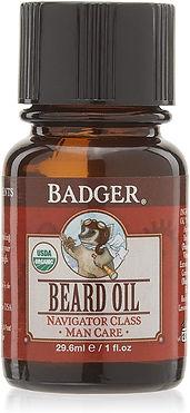 Badger usda certified organic beard oil for me, organic bread care for men, organic men skincare