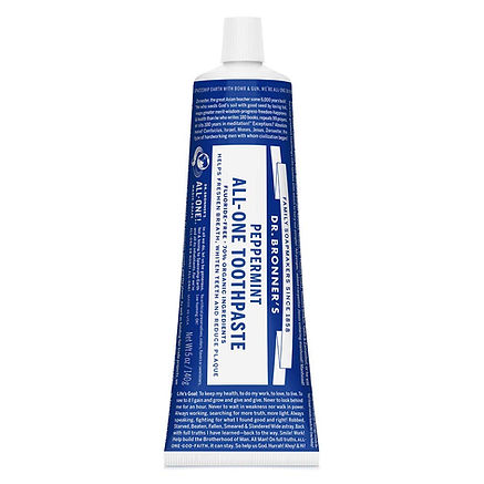 USDA certified organic toothpaste for men, oral care for men, Dr. Bronner's toothpaste