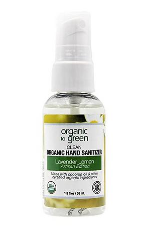 organic hand sanitizer, natural, certified