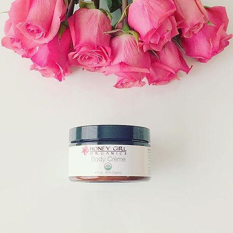 USDA Organic skin care, rose, pretty organic girl, honey girl organics, facial cleaner, body lotion, face cream