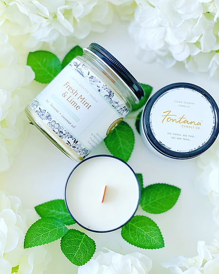 Certified organic candle