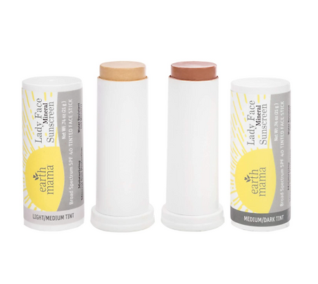 organic face mineral sunscreen stick tinted