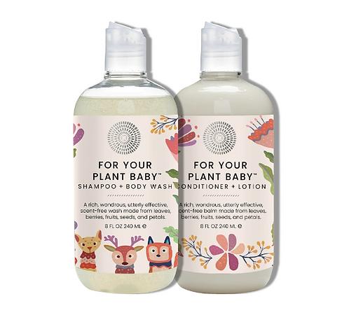 organic baby wash, body wash, conditioner, lotion