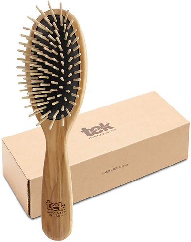 eco-friendly brushes hairbrush, not made in china, natural wood, natural material, non-toxic, plastic-free, vegan, certified eco-friendly, hypoallergenic, not made in china. made in USA brushes, hand made brushes. hair loss brushes, pregnancy. breastfeeding paddle animal free vegan combs, made in Italy brush, brushes, comb, combs, made in Italy