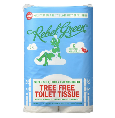 eco-friendly toilet paper, kitchen paper towel, paper free towel, tree free paper, bamboo paper, rebel green