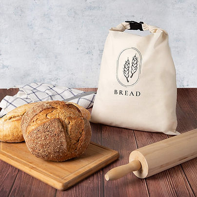 GOTS Certified Organic Cotton bags for bread storage