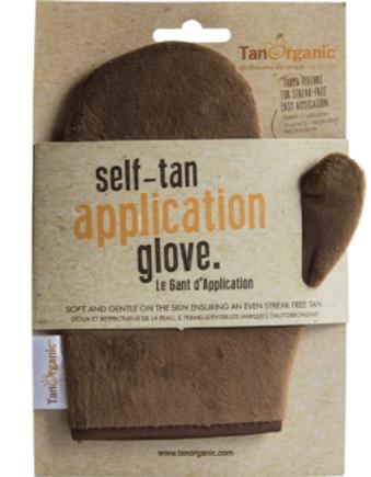 self-tan application glove natural