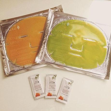 organic facial masks, home spa 100% pure