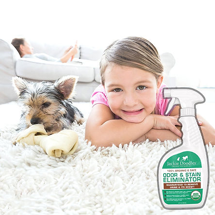 USDA Certified organic pet stain, odor remover, pets safe, non-toxic, natural, pure, safe, pee, poop, smell, carpet, indoor, urine