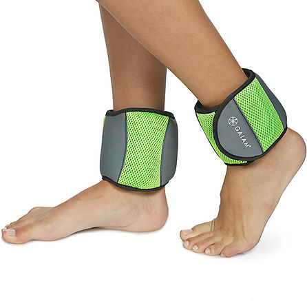 gaiam, non toxic, gree, pretty organic girl, ankle weight strenght, training weight sets
