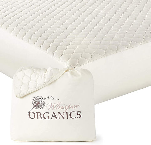GOTS Certified Organic Pillow Protectors, zipper pillow protectors, asthma, dust mite, allergy, Whispers Organics, mattress protector, cotton, certifed organic cotton mattress protector