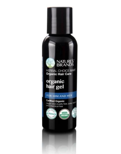 usda organic hair gel, non-toxic, travel-size