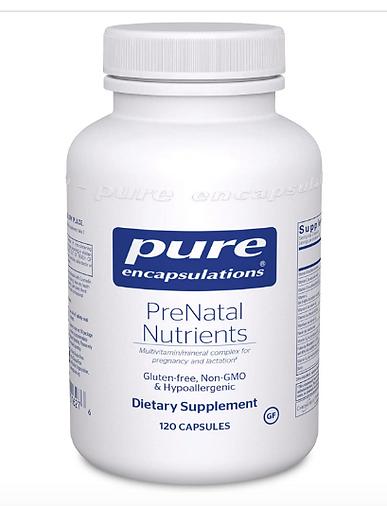 organic safe, non-toxic prenatal supplements, prenatal vitamins, pure encapsulations