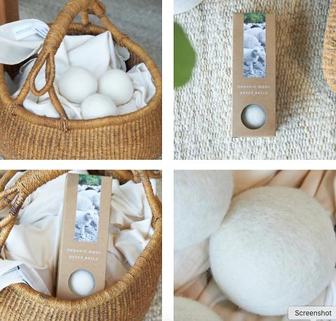 GOTS Certified organic dryer balls