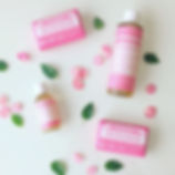 Dr. Bronner's Cherry Blossom Soap is her