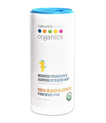 USDA Certified Organic Baby Powder, talc-free, non-toxic, natural, eco-friendly, sensitive skin, eczema