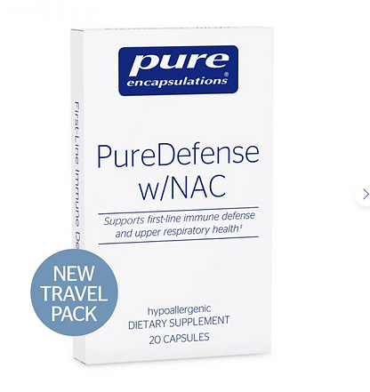 organic supplements and multi Vitamins for travel, travel size, Pure defense Pure encapsulations