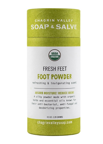 USDA Certified organic foot powder