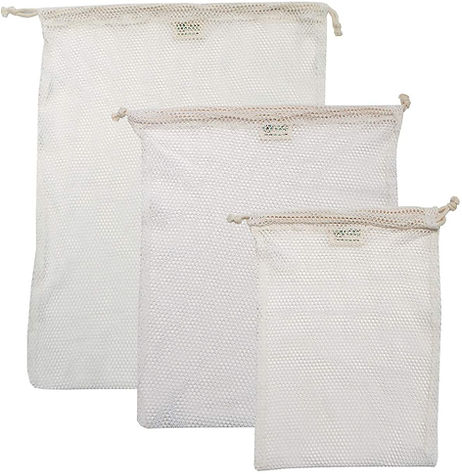 GOTS CERTIFIED ORGANIC mesh laundry bags