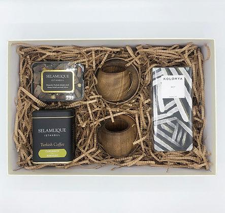 Wooden Man Coffee Box