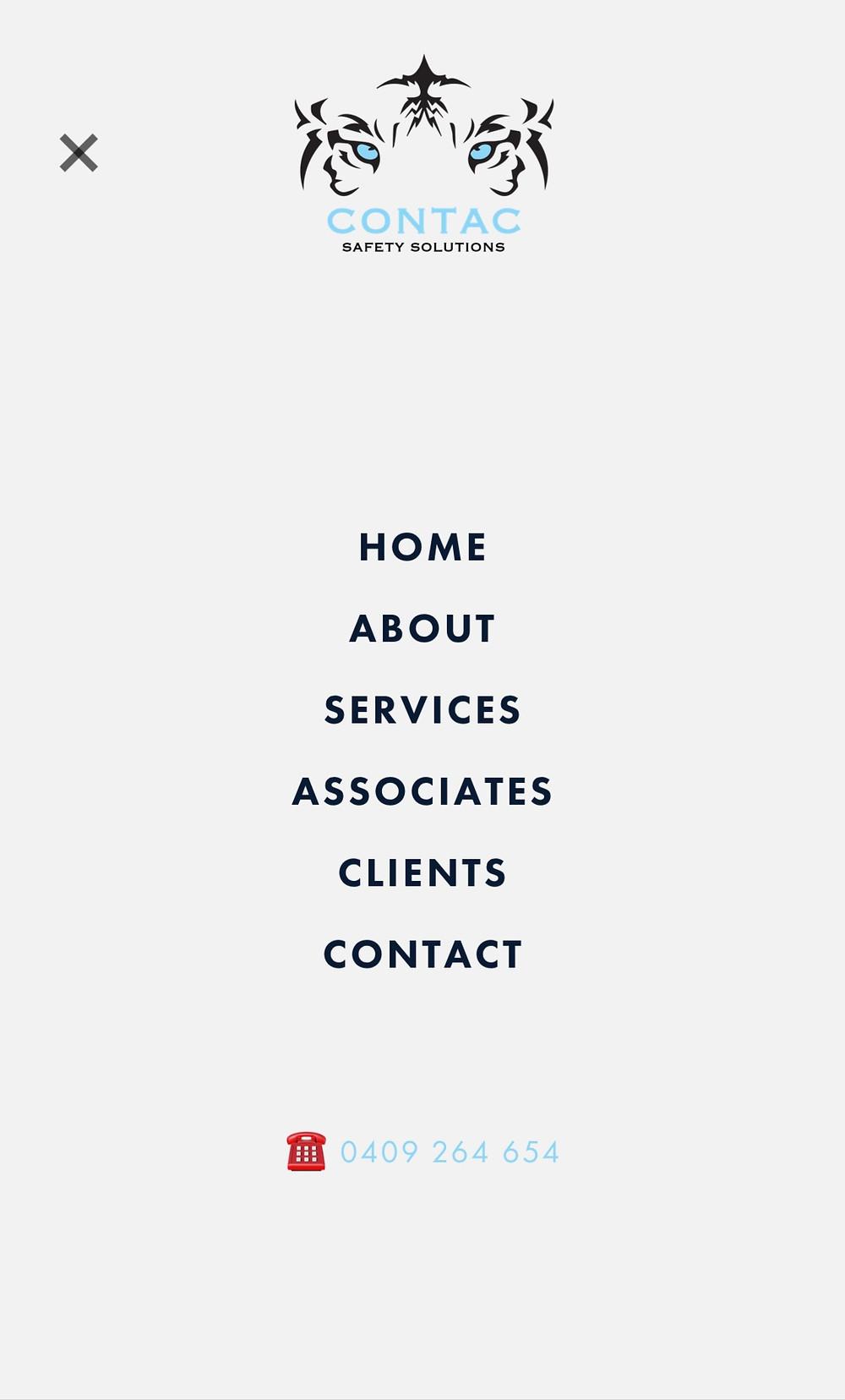 website design - RESPONSIVE MENU
