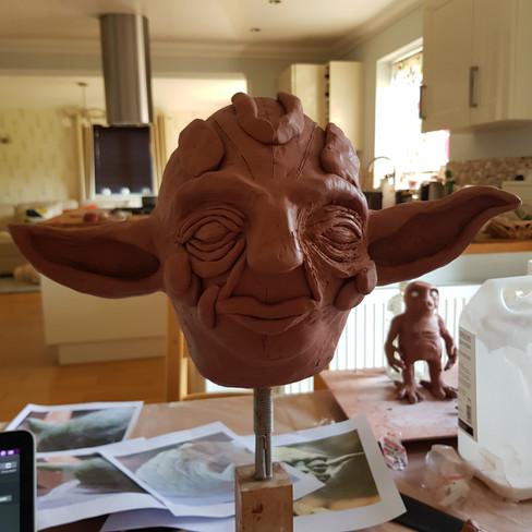 Progression of Yoda Sculpt