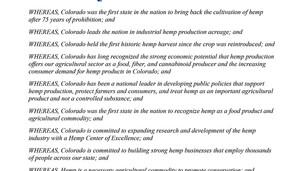 Colorado Governor, Jared Polis, Officially Proclaims June 6th-12th as Colorado Hemp Week