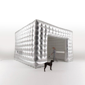 Silver Inflatable Cube