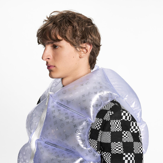Louis Vuitton | Frosted Inflatable Gilet | Ready To Wear '21