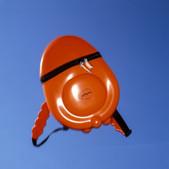 Orange dip-moulded rucksack