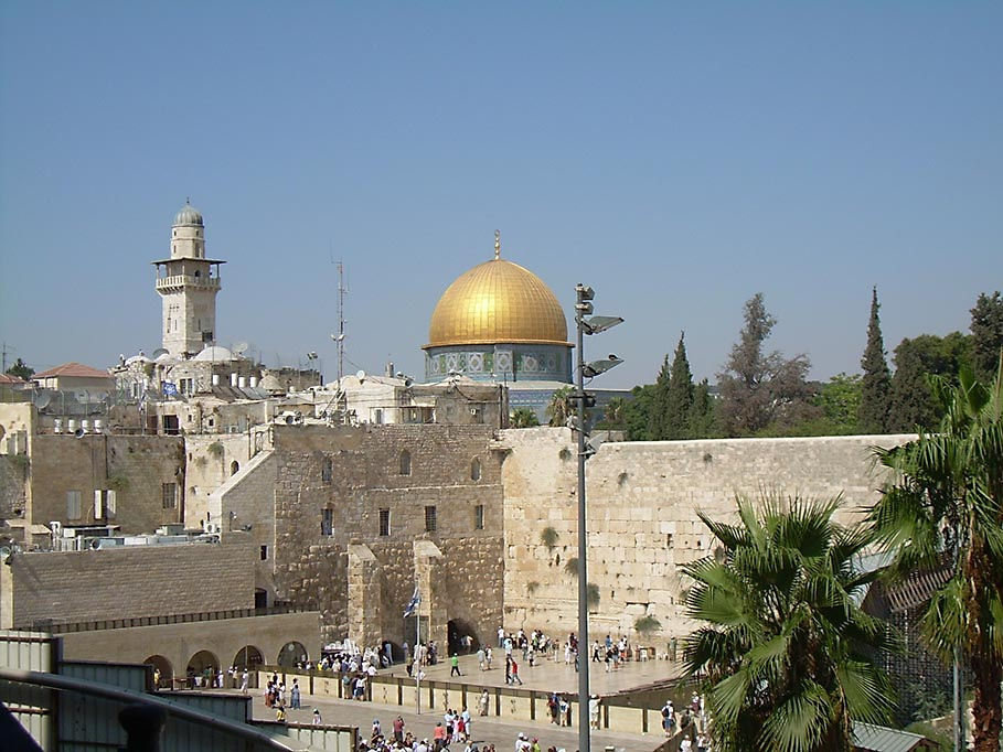 The Western Wall and the Dome of the Rock Mosque, Jerusalem, 2009