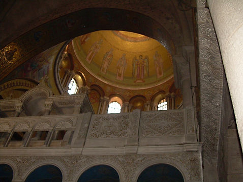 The domed ceiling of the Church of the Holy Sepulcher, Jerusalem, 2009