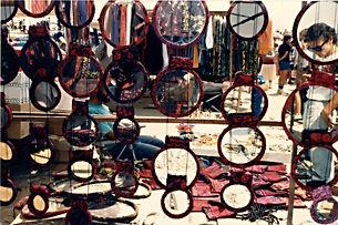 Bedouin wedding mirrors in the Arab Market, Jerusalem, 2009