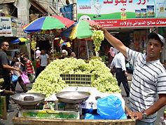 Grape seller, Ramallah, 2009