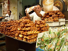 Challot (traditional braided egg bread for the sabbath) in the Jewish Market, 2009