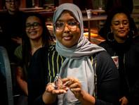 Farhia Muse won the rock, paper & scissors game!
