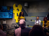 Maryam also told the participants about our partnership with Hack for Sweden, and invited people to join us!