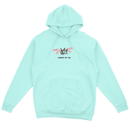 The Embroidered Cherry Blossom Lightweight Hoodie
