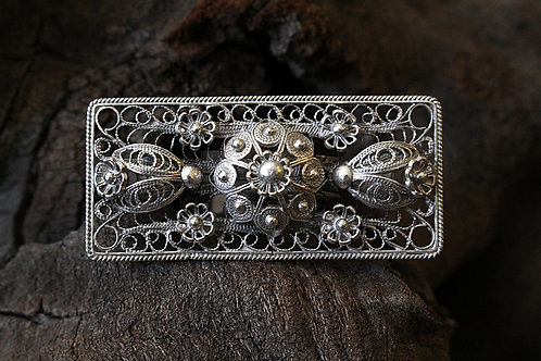 Large Rectangle Filigree Ring