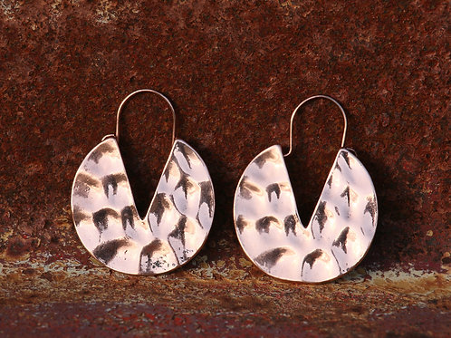 Round Hammered Earirngs