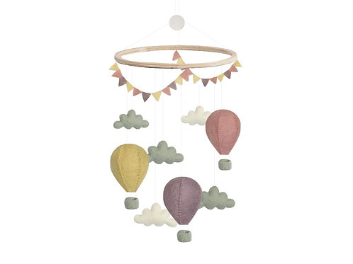 Mobile -Pastel Air Balloons, by Gamcha