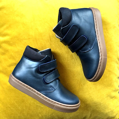 navy petasil velcro boots boys