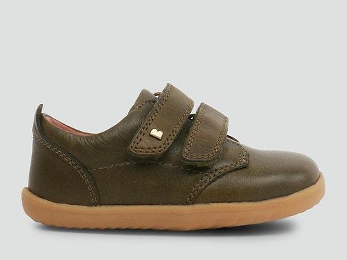 Bobux Step Up Port First Walker Shoes - Olive