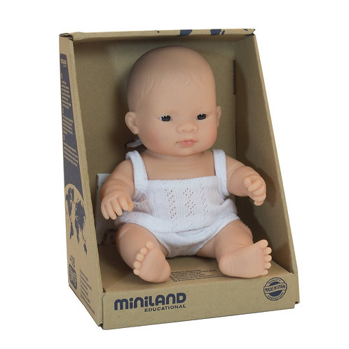 Miniland Asian Baby Girl Doll 21cm