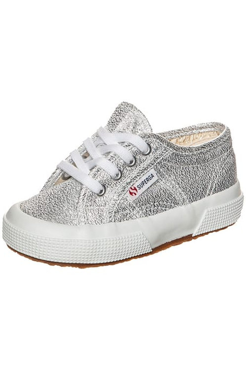 Superga 2750 Lame Silver Lace up Trainers shoes