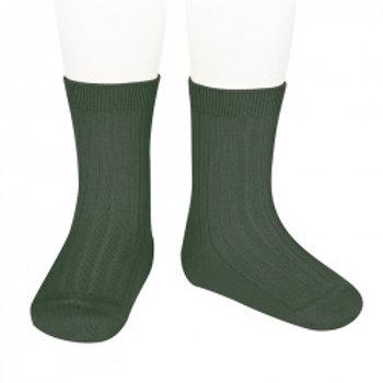 Women's Condor Ribbed Ankle Socks - Liquen Green