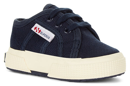 Superga Infant 2750 Classic Lace Up Navy trainers shoes