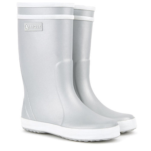 Aigle Lolly Pop Wellies Silver
