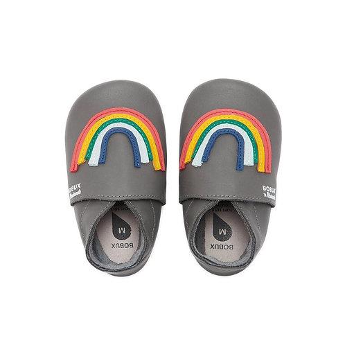 Bobux & The Bonnie Mob Imagine Rainbow Soft Soles Grey shoes baby