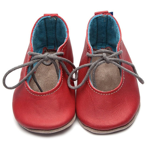 Mabel Soft Sole Baby Shoes by Inch Blue - Tomato